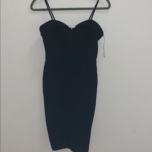 Charlotte Russe body deep plunging V bodycon dress
